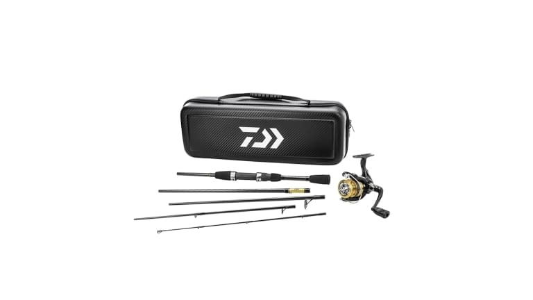 Daiwa Carbon Case Travel Pre-Mounted Freshwater Spinning Combo