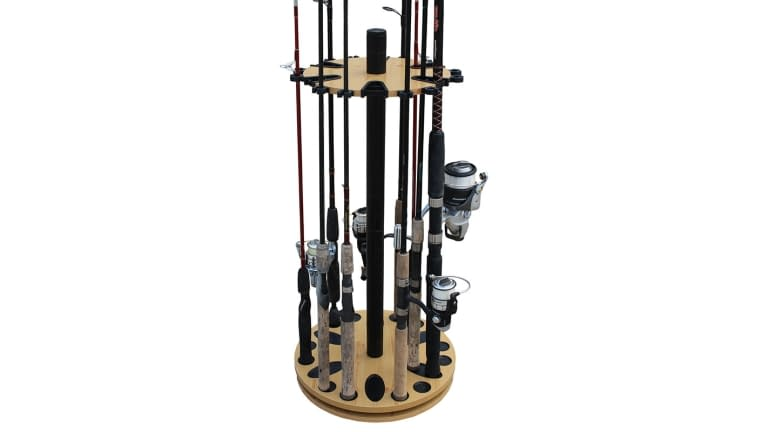 Rush Creek 24 Fishing Rod Spin Rack