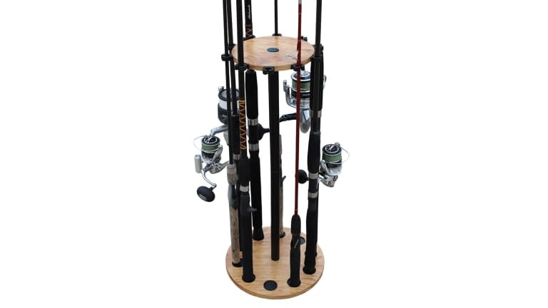 Rush Creek American Cherry Round 10 Rod Rack
